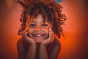 Photo: little girl smiling